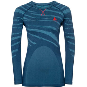 Odlo Suw Performance Blackcomb LS Top Crew Neck Women poseidon-turkish tile-diva pink